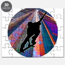 Skateboard on a Building Ray Puzzle
