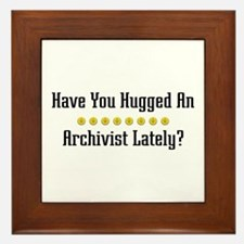Hugged Archivist Framed Tile