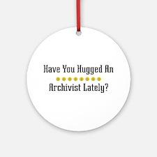 Hugged Archivist Ornament (Round)