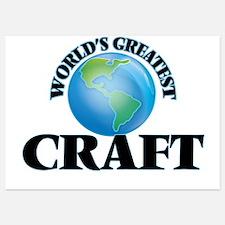 World's Greatest Craft Invitations