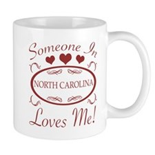 Somebody In North Carolina Loves Me Mugs