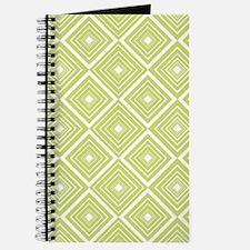 Diamond Pattern Green and White Journal