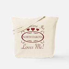 Somebody In North Dakota Loves Me Tote Bag