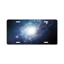 Galaxy Cluster Aluminum License Plate