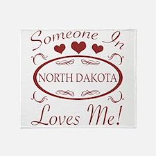 Somebody In North Dakota Loves Me Throw Blanket
