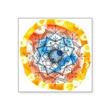 Orange Tie-Dye Mandala Sticker