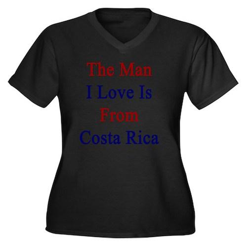 The Man I Lo Women's Plus Size V-Neck Dark T-Shirt