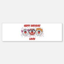 Happy Birthday GAVIN (clowns) Bumper Bumper Bumper Sticker