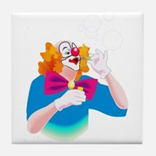 cute clown Tile Coaster