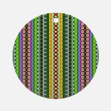 Modern Blue, Green and Purple Gir Ornament (Round)