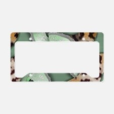 Leopards'n Lace - Green License Plate Holder