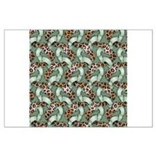 Leopards'n Lace - Green Large Poster