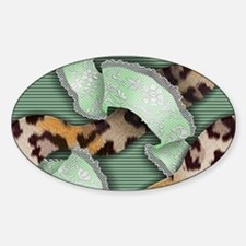 Leopards'n Lace - Green Decal