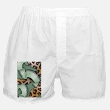 Leopards'n Lace - Green Boxer Shorts