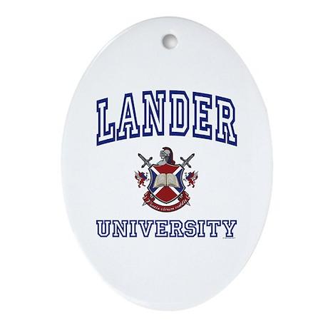 LANDER University Oval Ornament