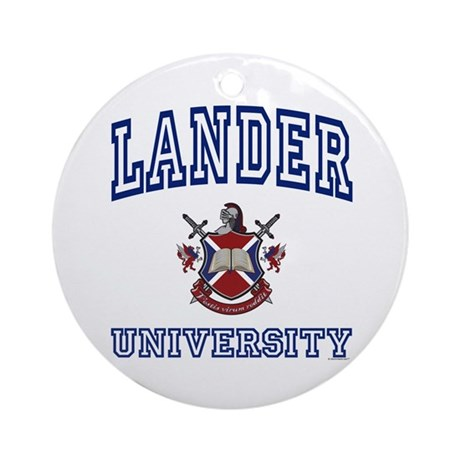 LANDER University Ornament (Round)