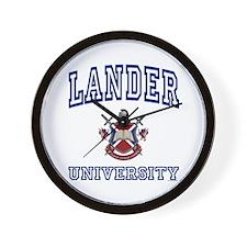 LANDER University Wall Clock
