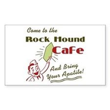 Rock Hound Cafe Rectangle Decal