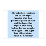 kennedy quote Postcards (Package of 8)