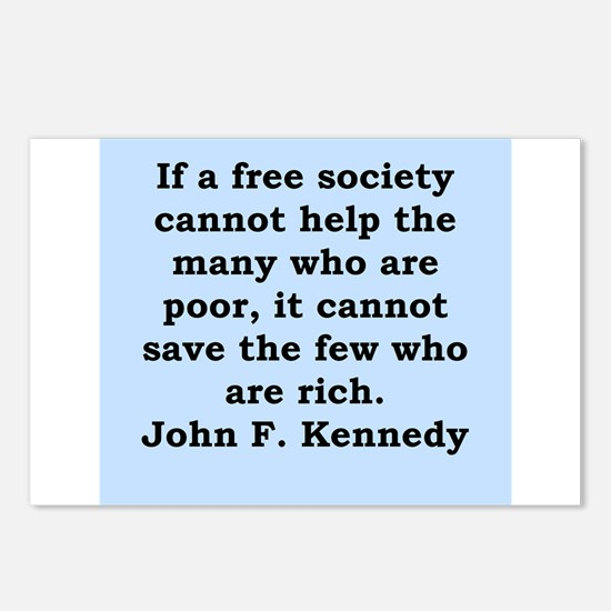 john f kennedy quote Postcards (Package of 8)
