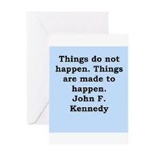 john f kennedy quote Greeting Card