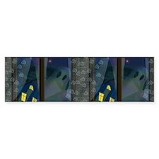 Ghosts in Window Halloween Bumper Sticker
