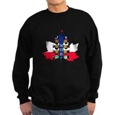 Maple Leaf Christmas Tree Sweatshirt