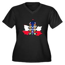Maple Leaf Christmas Tree Plus Size T-Shirt