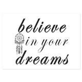 Dreams work goals quote 5 x 7 Flat Cards