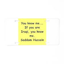saddam Aluminum License Plate