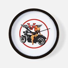 Cute Motorcycle Wall Clock