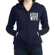 Unique Awesome husband Women's Zip Hoodie