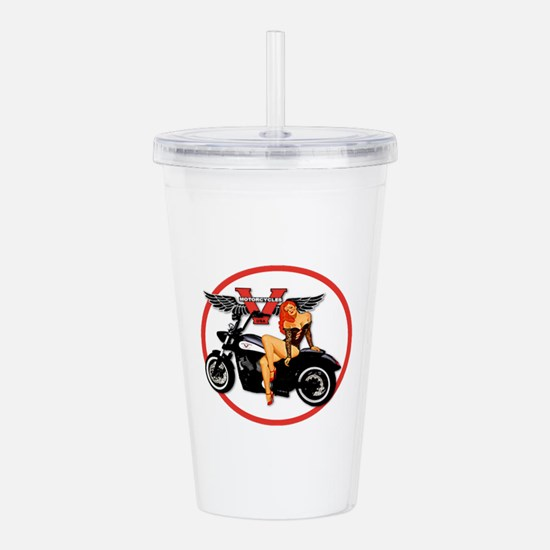 Cute Victory Acrylic Double-wall Tumbler
