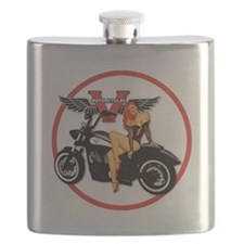 Cute Pins Flask