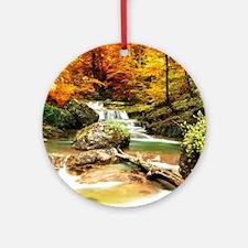 Autumn Stream Ornament (Round)