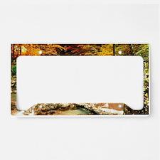 Autumn Stream License Plate Holder