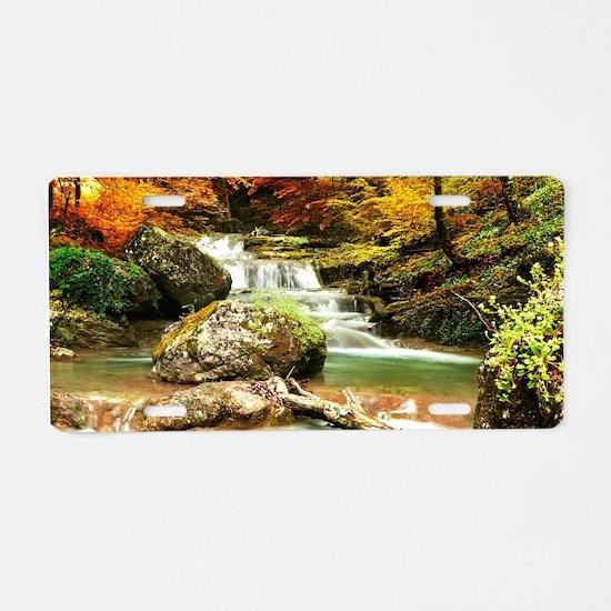Autumn Stream Aluminum License Plate