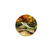 Autumn Stream Mini Button