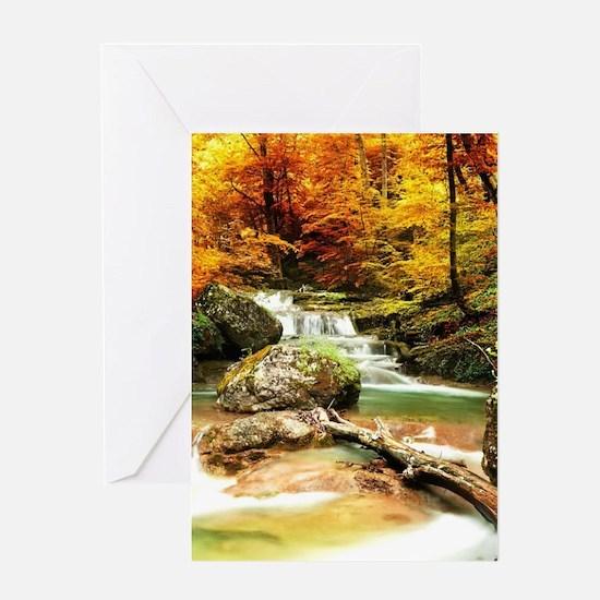 Autumn Stream Greeting Cards