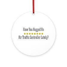 Hugged Air Traffic Controller Ornament (Round)