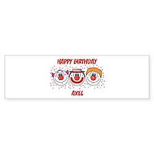 Happy Birthday AXEL (clowns) Bumper Bumper Sticker