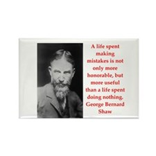 george bernard shaw quote Rectangle Magnet (10 pac