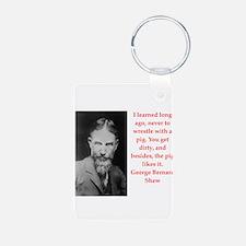 george bernard shaw quote Keychains