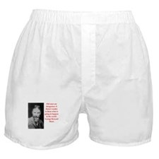 george bernard shaw quote Boxer Shorts