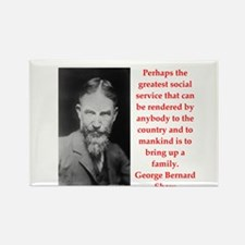 george bernard shaw quote Rectangle Magnet (100 pa