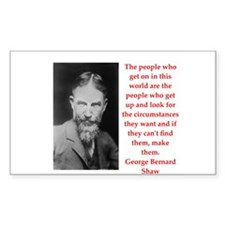george bernard shaw quote Decal