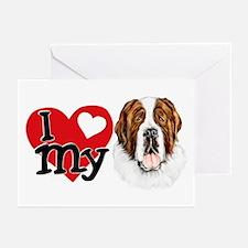 I (heart) my Saint Bernard Greeting Cards (Package