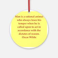 oscar wilde quote Ornament (Round)