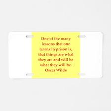 oscar wilde quote Aluminum License Plate