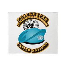 UN - UN Beret - Peacekeeper Throw Blanket